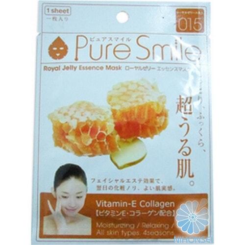 """""""Pure Smile"""" """"Essence mask"""" Омолаживающая маска для лица с эссенцией маточного молочка пчёл 23 мл"""