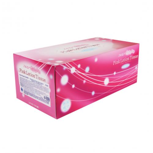 """Kami Shodji Ellemoi """"Pink""""  Бумажные двухслойные салфетки с коэнзимом Q10 розовые, 180 шт. (1 пачка) Артикул: 002579"""