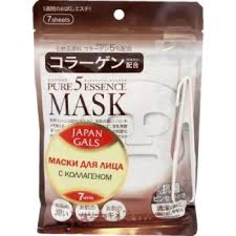 Japan Gals Маска с коллагеном Pure 5 Essential 7 шт