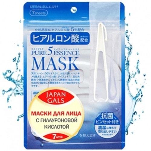 Japan Gals Маска с гиалуроновой кислотой Pure5 Essential 7 шт, Артикул: 009731