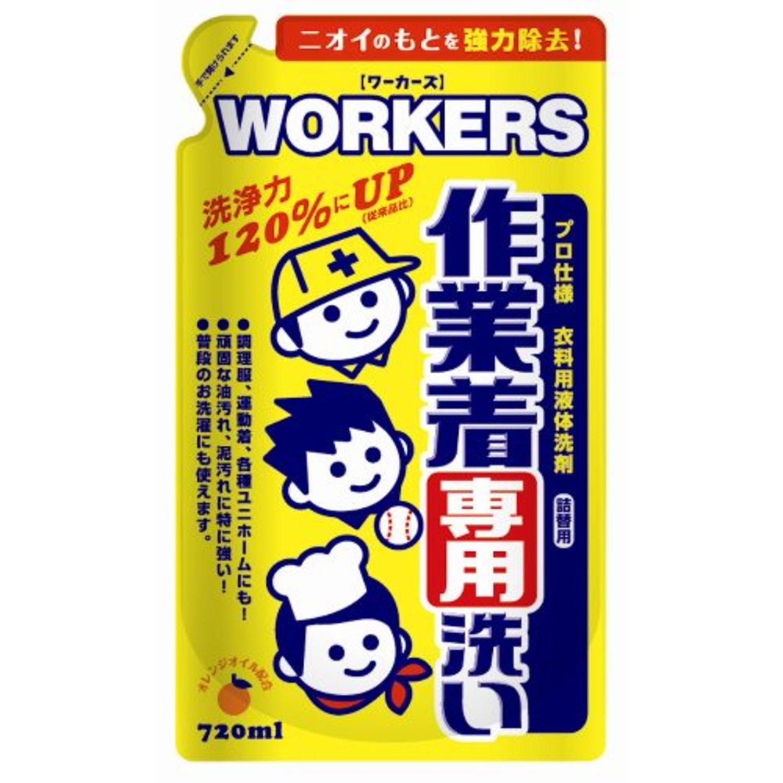 NISSAN «Workers» Жидкое средство для стирки рабочей и сильно загрязненной одежды, 720 мл., сменный блок. Артикул:142340