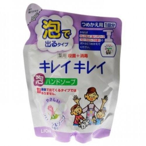 """Lion """"Kirei Kirei"""" Антибактериальное жидкое мыло для рук с цветочным ароматом, сменная упаковка 200 мл, Артикул:176916"""