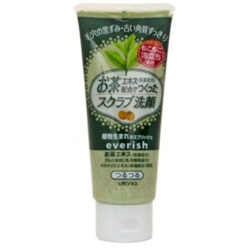 UTENA «Everish»  Скраб для лица из скорлупы грецкого ореха с зеленым чаем и гаммамелисом