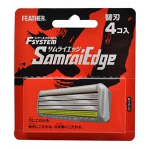 """Feather F-System """"Samurai Edge"""" Запасные кассеты с тройным лезвием для станка  4шт"""