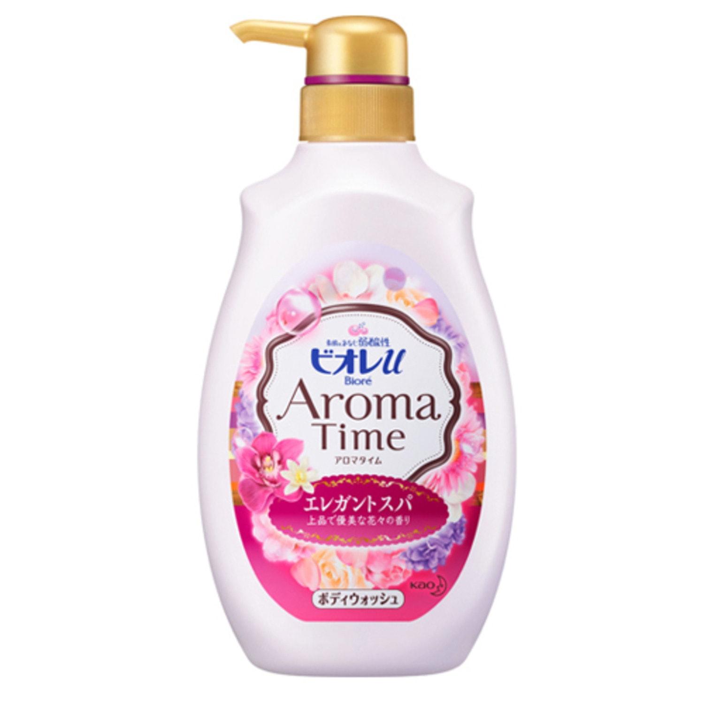 Kao «Biore U» Aroma Time - Увлажняющий и смягчающий гель для душа с ароматом цветов, 500 мл. Артикул: 294609