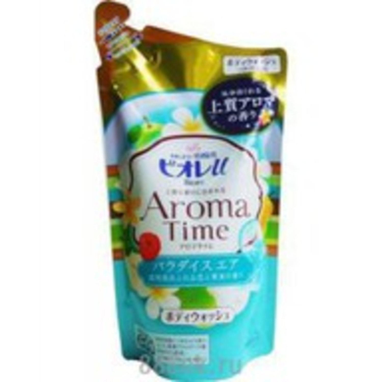 Kao «Biore U» Aroma Time - Увлажняющий и смягчающий гель для душа с ароматом цветов, 360 мл. Артикул: 294630