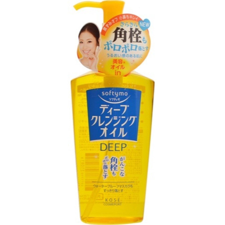 """KOSE Cosmeport """"Softymo"""" Гидрофильное масло для глубокого очищения лица и снятия макияжа, без парабенов, 230 мл"""