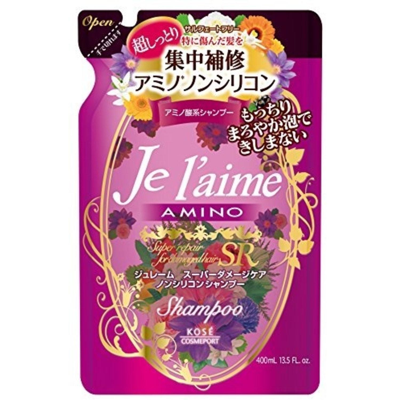 """KOSE COSMEPORT """"Je l'aime"""" Шампунь для поврежденных волос """"Экстраувлажнение""""  сменная упаковка 400 мл. Артикул: 384970"""