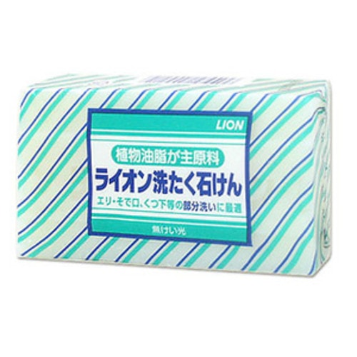 LION Хозяйственное мыло для ручной стирки воротничков, манжет, носков, 220 гр. Артикул: 400219