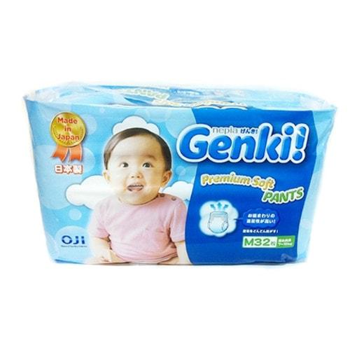 """""""Nepia Genki"""" Детские подгузники-трусики (для мальчиков и девочек) 32 шт., M 7-10 кг."""