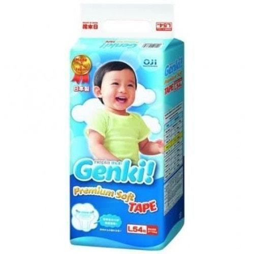 """""""Nepia Genki"""" Детские подгузники (для мальчиков и девочек) 54 шт.,L9-14 кг. Артикул: 512648"""