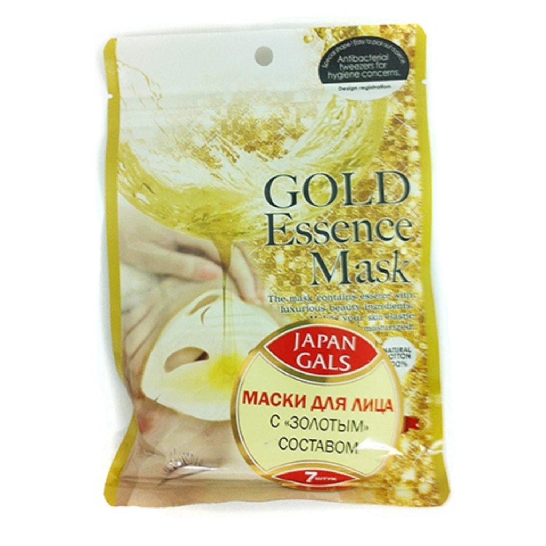 Japan Gals Маска с «золотым» составом Essence Mask 7 шт