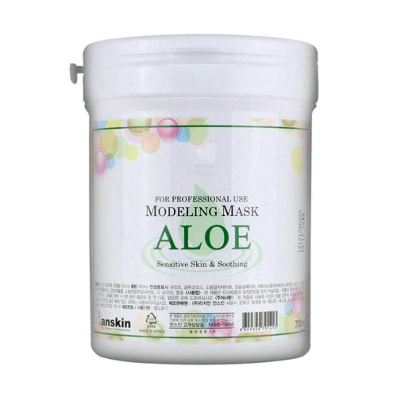Anskin «Aloe Modeling Mask»Маска альгинатная с экстрактом алоэ успокаивающая банка 700 гр, Артикул: 791413