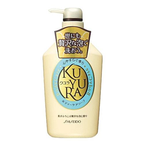 "SHISEIDO ""KUYURA"" Гель-жидкое мыло для тела, лечебное с ароматом трав, 550 мл. Артикул: 836246"