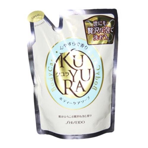 SHISEIDO KUYURA Гель-жидкое мыло для тела, лечебное с ароматом трав, сменный блок