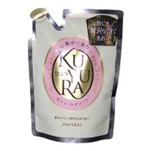 SHISEIDO KUYURA Гель-жидкое мыло для тела, лечебное с ароматом цветов, сменный блок