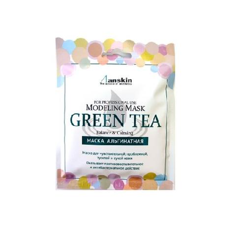 ANSKIN Modeling Mask Green Tea For Balance & Calming  Маска альгинатная для лица успок. с экстр. зеленого чая, 25 г