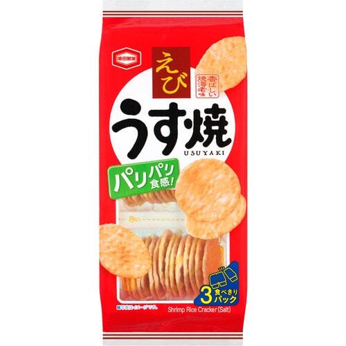 Kameda SHRIMP Тонкое слегка обжаренное рисовое печенье со вкусом креветки, 3 контейнера * 80 гр