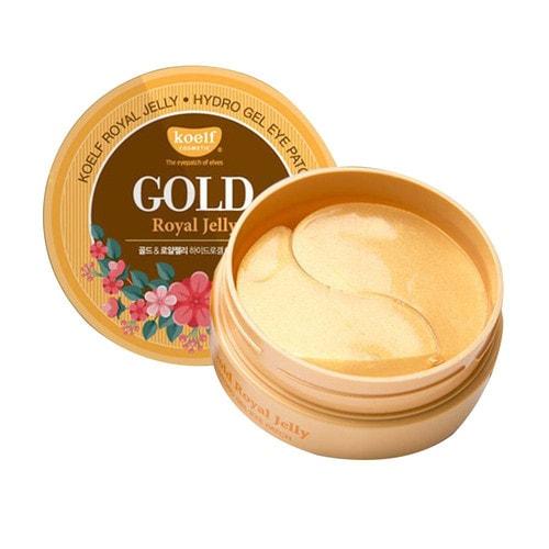 KOELF Royal Jelly Hydrogel Eye Patch Гидрогелевые патчи для век, с золотом и экстрактом пчелиного маточного молочка