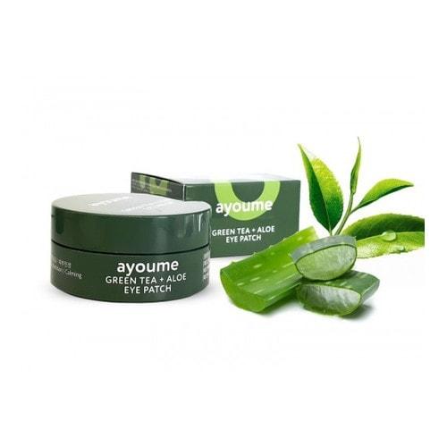 AYOUME Патчи для глаз от отечности с экстрактом зеленого чая и алоэ GREEN TEA+ALOE EYE PATCH 1,4гр*60 шт/ 804159