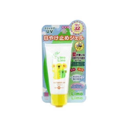 Meishoku Limo Limo Outdoor UV SPF32 Солнцезащитный гель для всей семьи с эффектом отпугивания насекомых SPF32, 50 гр
