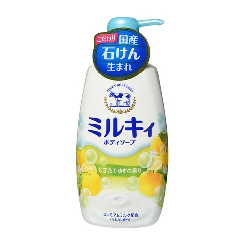"""COW """"Мilky Body Soap"""" Увлажняющее молочное жидкое мыло для тела, свежий цитрусовый аромат"""
