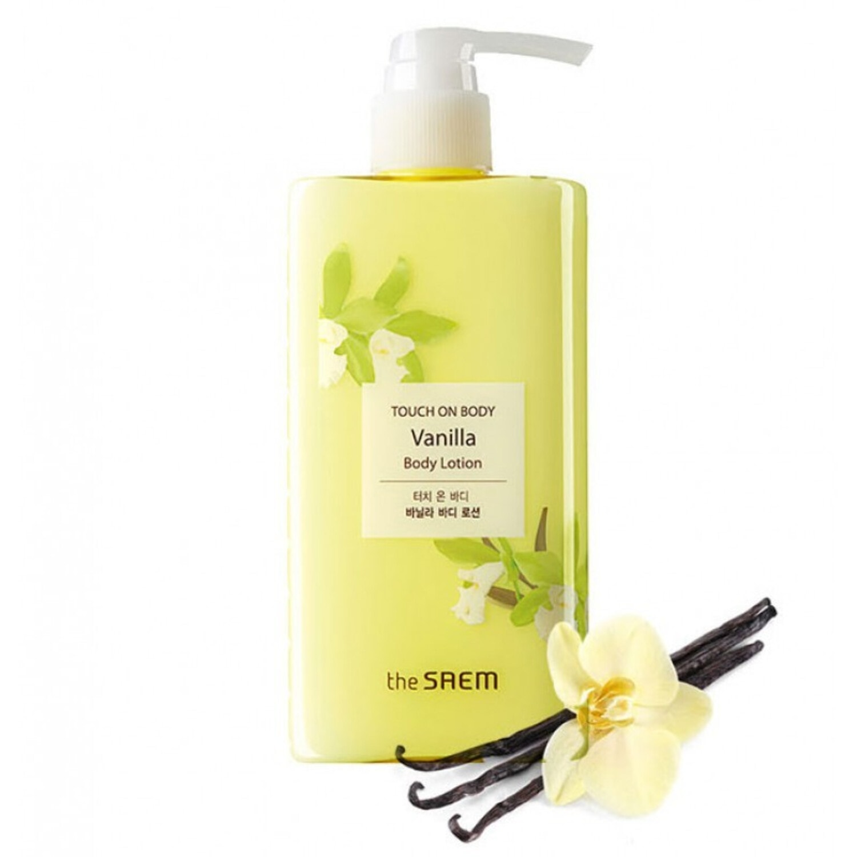 The Saem Touch On Body Vanilla Body Lotion Лосьон для тела увлажняющий с экстрактом ванили, 300 мл