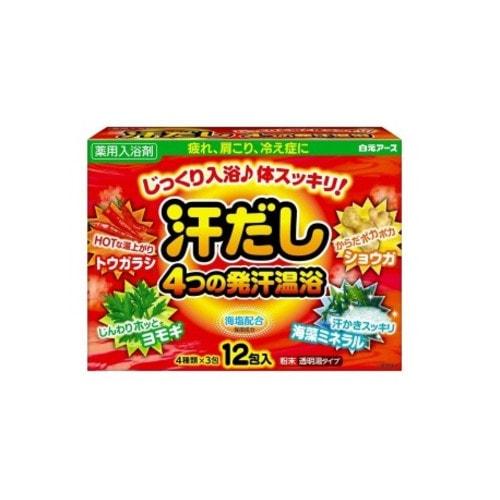 """Hakugen Eartn """"Asedashi"""" Согревающая соль для ванны с экстрактами перца, имбиря, моркови, морских водорослей, 25 г./ 220313"""