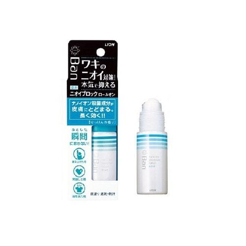 LION Ban smell Дезодорант-антиперспирант ролик нано-ионный блок. рост бактерий