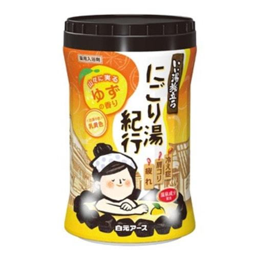 """""""Hakugen Earth"""" """"Банное путешествие"""" Увлажняющая соль для ванны с восстанавливающим эффектом (с ароматом юдзу)"""