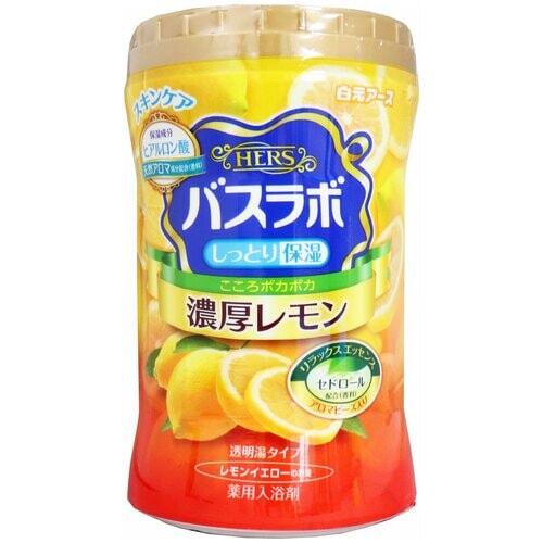 Hakugen Earth Hers Bath Labo Cool Соль для ванны с восстанавливающим эффектом, с ароматом лимона, банка 640 г