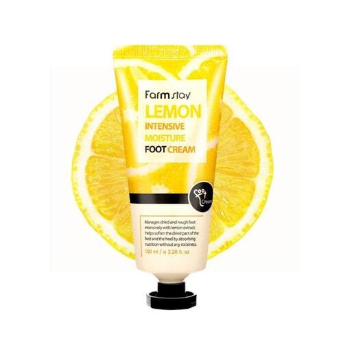 Farmstay Lemon Intensive Moisture Foot Cream Смягчающий крем для ног с экстрактом лимона, 100 мл