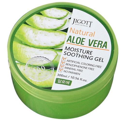 JIGOTT  Natural Moisture Soothing Gel Гель для лица и тела успокаивающий с алоэ, 300мл