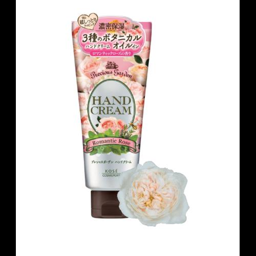 KOSE  Precious Garden Romantic Rose Крем для рук питательный и увлажняющий, c тремя видами растительных масел, с нежным ароматом розы  70г