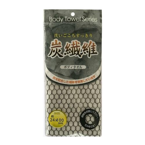 Lec Мочалка для тела  мягкая с угольной нитью 24см*100см