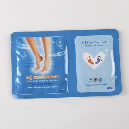 Увлажняющая маска-носочки для ног MJ Care Foot Care Pack с гиалуроновой кислотой, 1 пара
