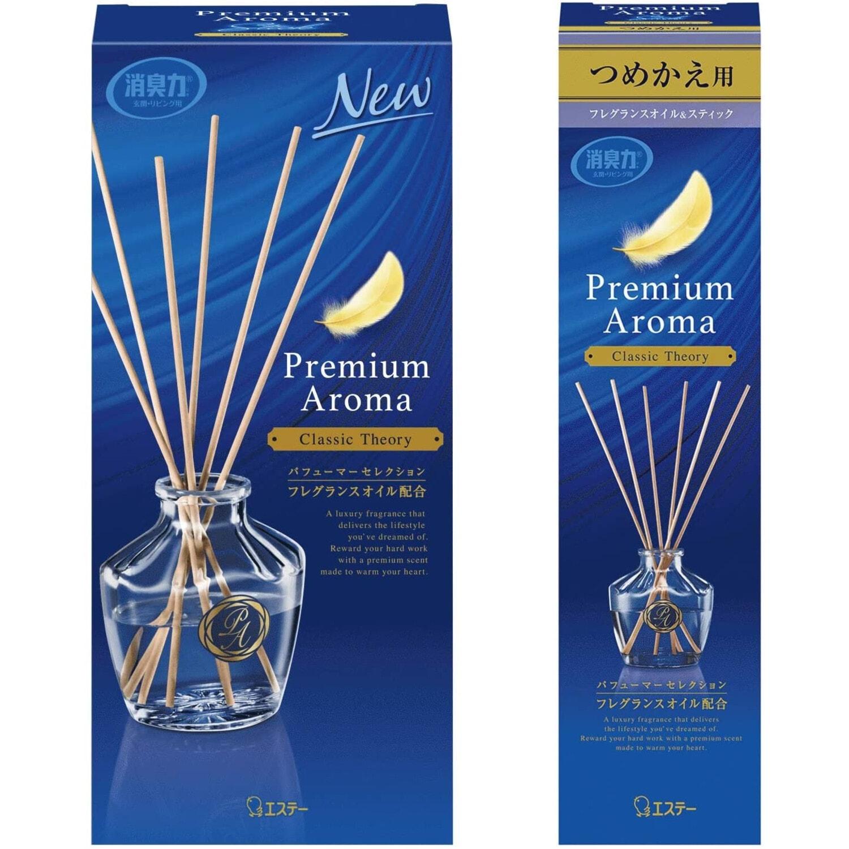 ST Shoushuuriki Освежитель воздуха для комнаты, аромат изысканная классика, флакон, наполнитель, палочки, 50 мл