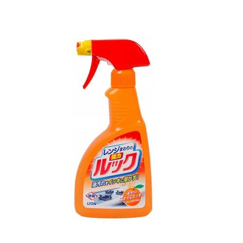 LION LOOK Чистящее средство для плит с эфектом распыления и ароматом апельсина