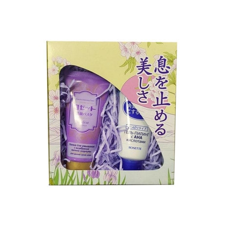 ROSETTE Подарочный набор Аge clear Пенка для умывания, 120 г. + мягкий пилиг-гель, 120 г