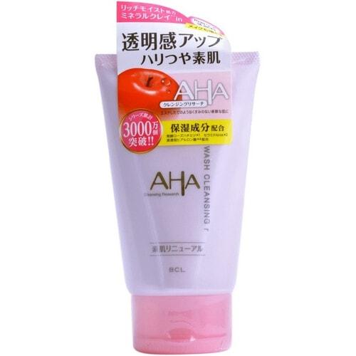 BCL AНА wash cleansing Пена-скраб для лица (с фруктовыми кислотами, минеральной глиной и увлажняющими компонентами), 120 гр