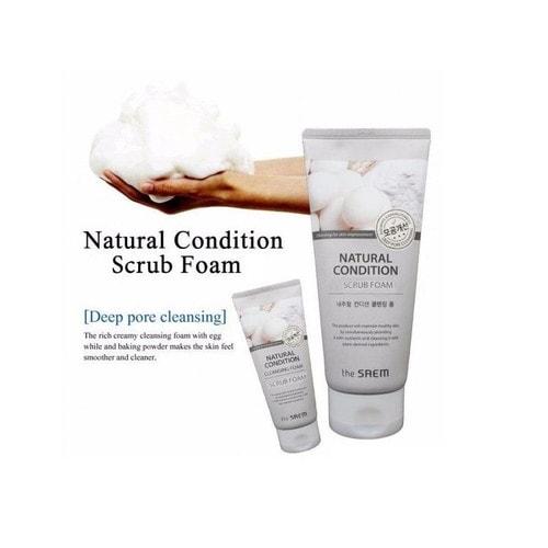 The Saem Natural Condition Scrub Foam Пенка скраб для лица? 150 мл./ 145845