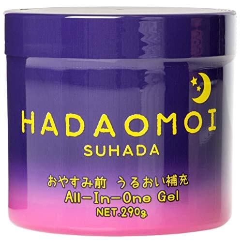 """Akari """"Hadaomoi Suhada"""" Ночной увлажняющий и питательный гель для лица и тела, с концентратом стволовых клеток, 290 г."""