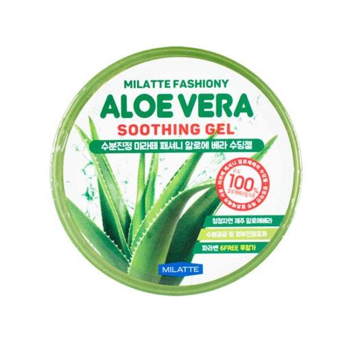 Milatte Fashiony Aloe Vera Soothing Gel 100% Многофункциональный гель с алое, 300 мл / 260079