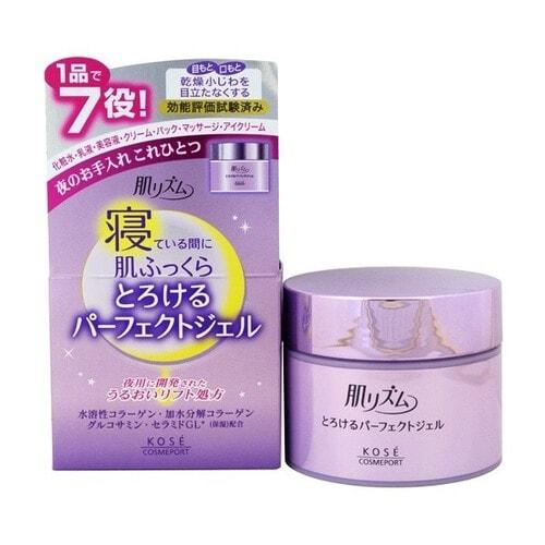 Kose Cosmeport Skin Rhythm - Спящая Красавица Ночной увлажняющий гель для лица, 100 гр