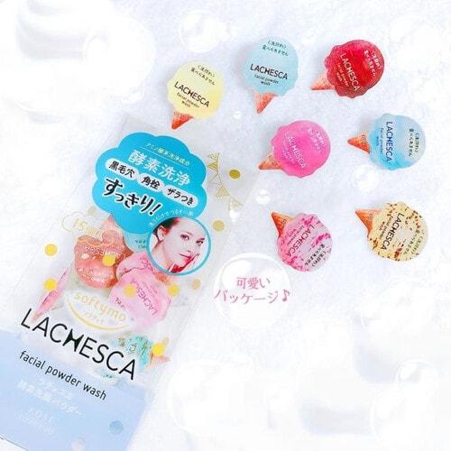 KOSE COSMEPORT Softymo Lachesca Powder Wash Энзимный очищающий порошок для лица, 0,4 г