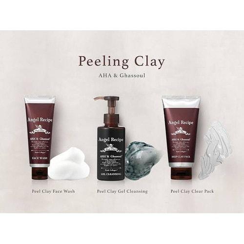 Angel Recipe Peel Clay Gel Cleansing Гель для очищения и снятия макияжа с тройным коллагеном, 145мл./401297