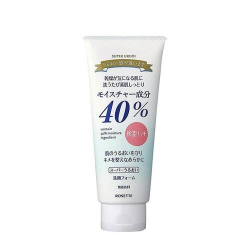 Rosette 40% Super Uruoi Moisturizing Cleansing Foam Пенка для умывания с растительными экстрактами, 168 г