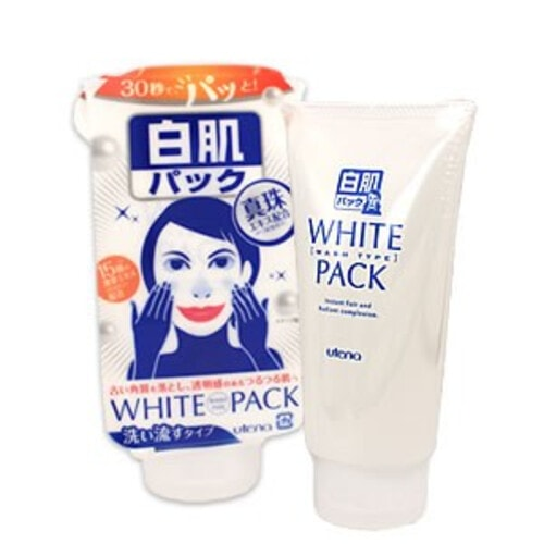 """UTENA """"Shirohada""""  Увлажняющая кремовая Экспресс-маска для лица с эффектом выравнивания цвета кожи с экстрактом жемчуга, 140г"""