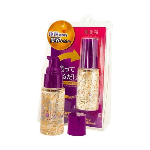 KRACIE Hadabisei Turning Care Whitening Brightening Night Facial Serum Ночная осветляющая сыворотка для лица , 30 гр.