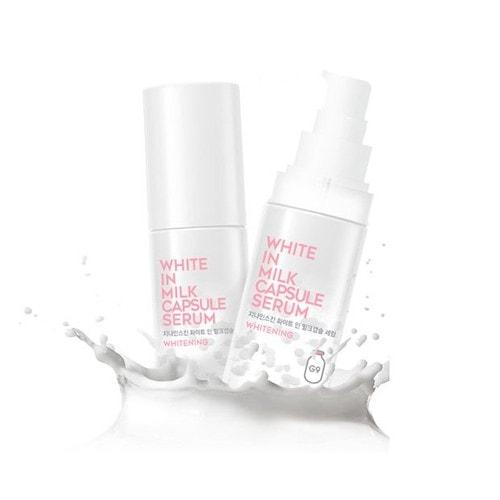 G9 Skin White In Milk Capsule Serum Осветляющая сыворотка для лица с молочными протеинами, 50 мл / 652655